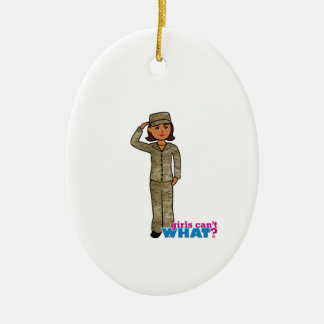 Air Force Camo Dark Double-Sided Oval Ceramic Christmas Ornament