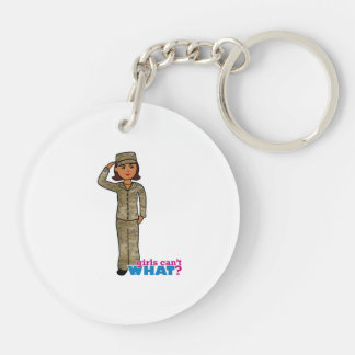 Air Force Camo Dark Double-Sided Round Acrylic Key Ring