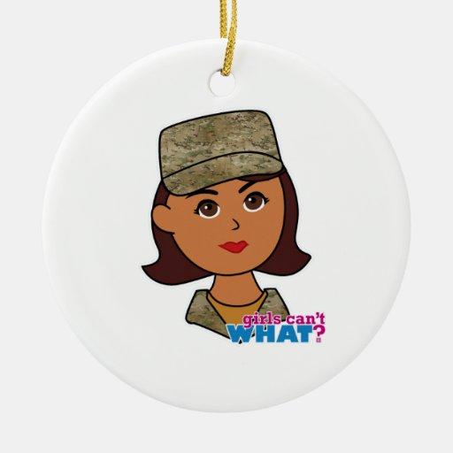 Air Force Camo Head Dark Christmas Tree Ornament