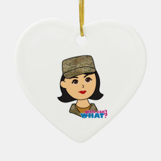 Air Force Camo Head Medium Ceramic Heart Decoration