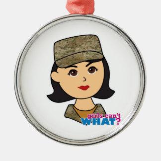 Air Force Camo Head Medium Christmas Tree Ornaments