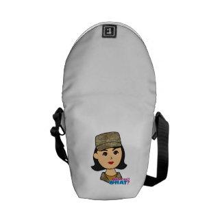 Air Force Camo Head Medium Messenger Bag