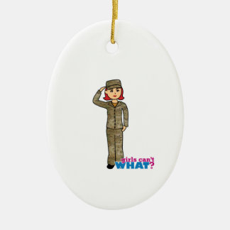 Air Force Camo Red Double-Sided Oval Ceramic Christmas Ornament