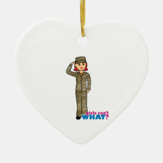 Air Force Camo Red Ceramic Heart Decoration