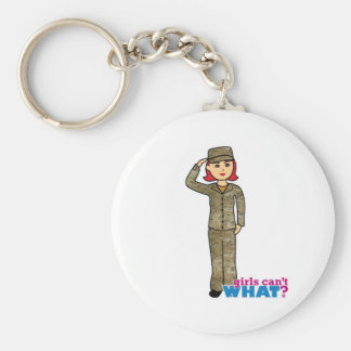 Air Force Camo Red Basic Round Button Key Ring