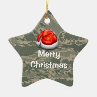 Air Force Camo Star Merry Christmas Ornament