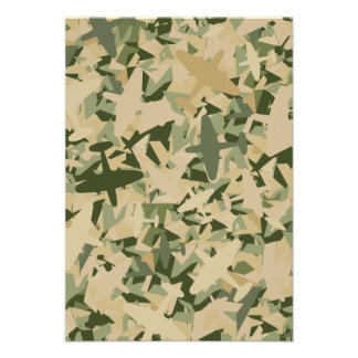 Air Force Camouflage RSVP Card Personalized Invite