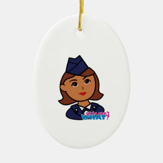 Air Force Ceramic Oval Decoration