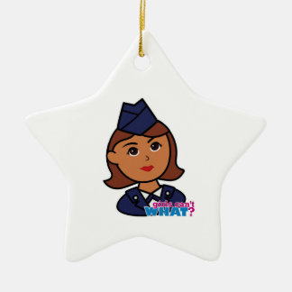 Air Force Ceramic Star Decoration