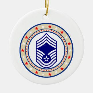 Air Force Chief Master Sergeant E-9 CMSgt Christmas Ornament