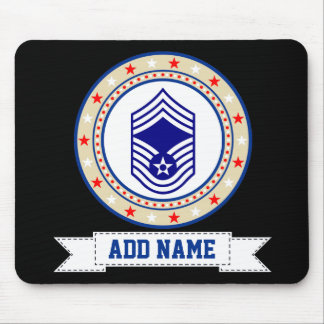 Air Force Chief Master Sergeant E-9 CMSgt Mouse Mat