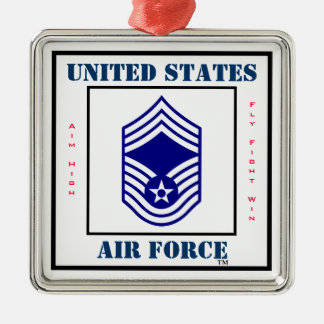 Air Force CMSgt - E-9 Christmas Ornament
