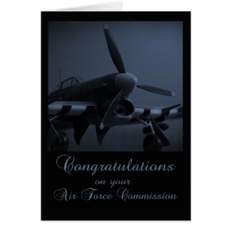 Air Force Commissioning Congratulations Card - Haw