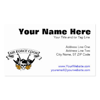 Air Force Cook Double-Sided Standard Business Cards (Pack Of 100)