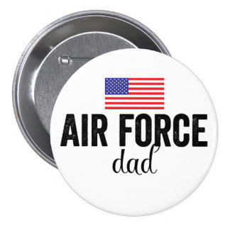 Air Force Dad American Flag Button