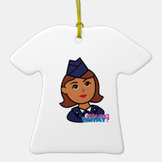 Air Force Double-Sided T-Shirt Ceramic Christmas Ornament