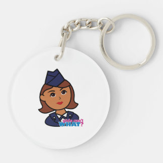 Air Force Double-Sided Round Acrylic Key Ring