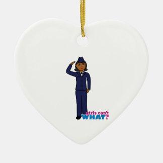 Air Force Dress Blues Dark Ceramic Heart Decoration