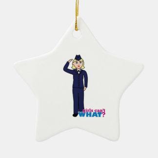 Air Force Dress Blues Light Ceramic Star Decoration