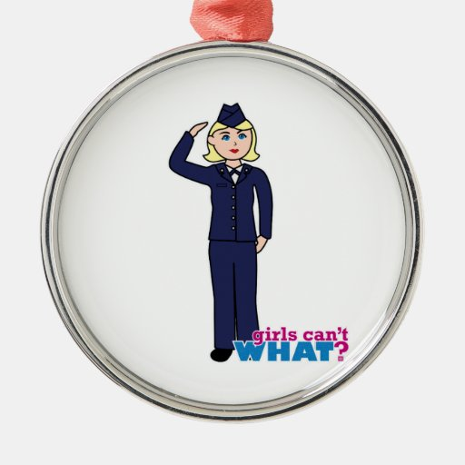 Air Force Dress Blues Light Christmas Tree Ornaments