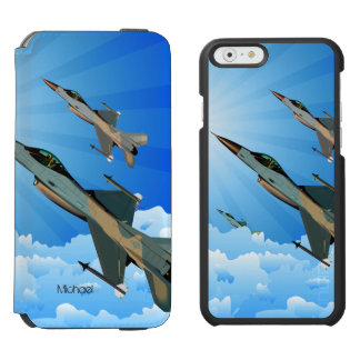 Air Force F16 Fighter Team Flying Into The Clouds Incipio Watson™ iPhone 6 Wallet Case