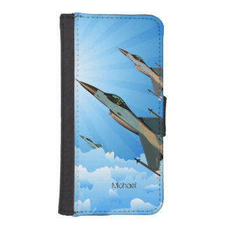 Air Force F16 Fighters iPhone SE/5/5s Wallet Case