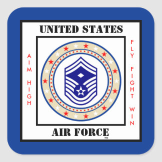 Air Force First Sergeant E-8 Square Sticker