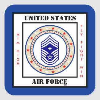 Air Force First Sergeant E-9 Square Sticker