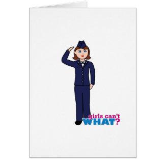 Air Force Girl Greeting Card