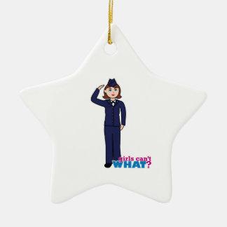 Air Force Girl Ceramic Star Decoration