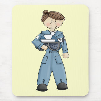 Air Force Girl Mouse Pad