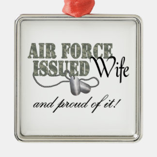 Air Force Issued Wife Silver-Colored Square Decoration