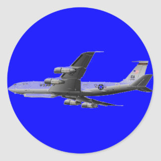 AIR FORCE JET AIRCRAFT ROUND STICKER