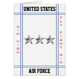 Air Force Lieutenant General O-9 Lt Gen Card