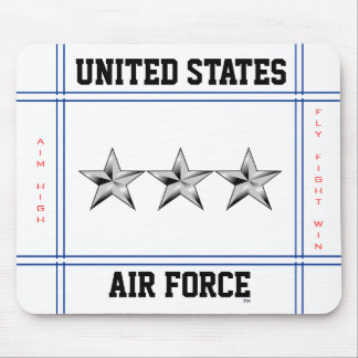 Air Force Lieutenant General O-9 Lt Gen Mouse Pad
