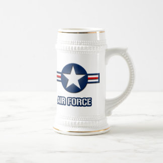 Air Force Logo Beer Stein 18 Oz Beer Stein