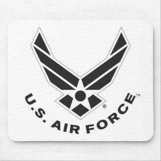 Air Force Logo - Black Mouse Pad