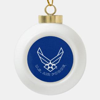 Air Force Logo - Blue Ceramic Ball Christmas Ornament