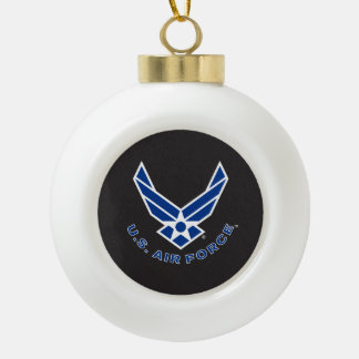 Air Force Logo - Blue Ceramic Ball Decoration
