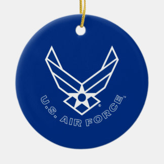 Air Force Logo - Blue Christmas Ornament