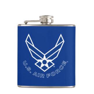Air Force Logo - Blue Hip Flask