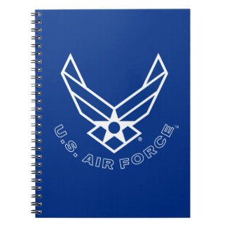 Air Force Logo - Blue Notebooks