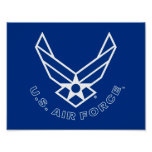 Air Force Logo - Blue Poster