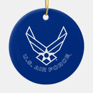 Air Force Logo - Blue Round Ceramic Decoration