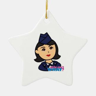 Air Force Medium Head Christmas Tree Ornament
