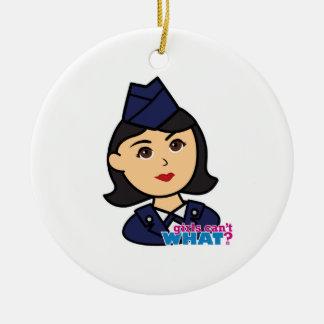 Air Force Medium Head Christmas Ornaments