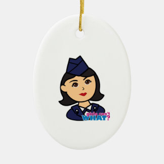 Air Force Medium Head Christmas Ornament