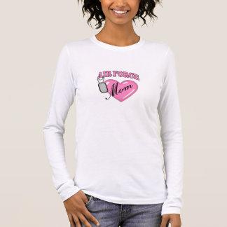 Air Force Mom Heart N Dog Tag Long Sleeve T-Shirt