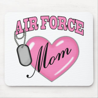 Air Force Mom Heart N Dog Tag Mouse Mat