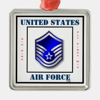 Air Force MSgt - E-7 Silver-Colored Square Decoration